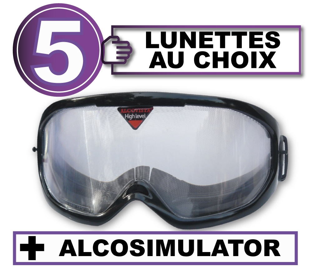 FR pack 5 lunettes alco